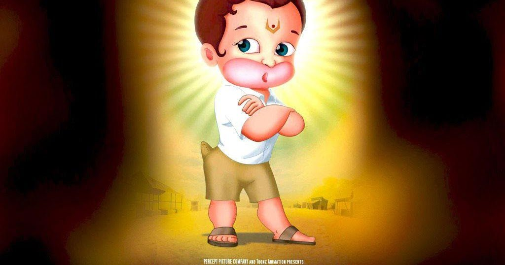 Cute-Hanuman-Returns-Wallpaper