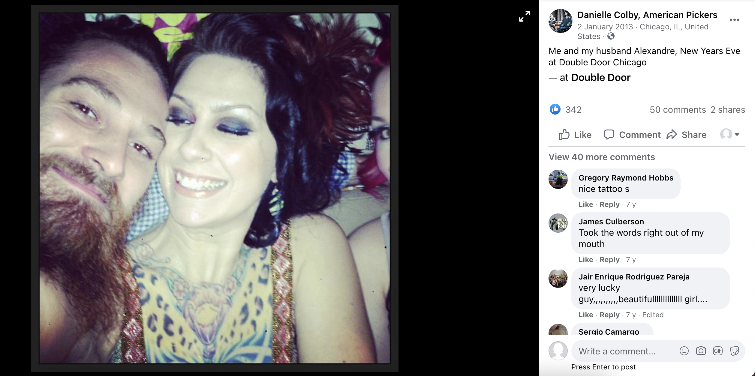 Pickers husband from american danielle DANIELLE COLBY